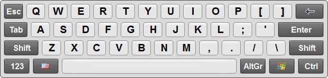 Touch Screen Keyboard