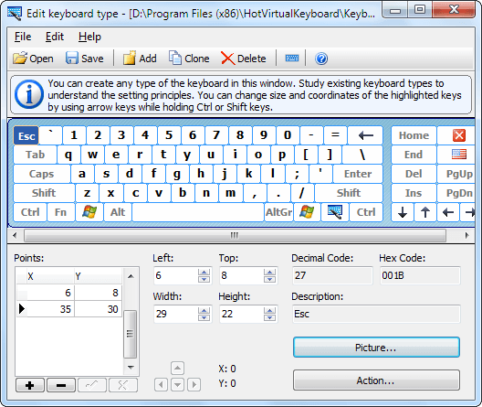 Edit virtual keyboard
