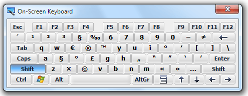 how to change keyboard symbols
