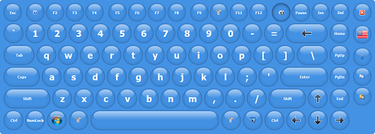 Virtual Keyboard with Rounded Keys