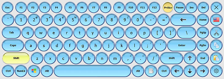Virtual Keyboards with Rounded Keys