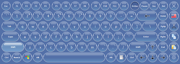 On-Screen Keyboard with Rounded Keys