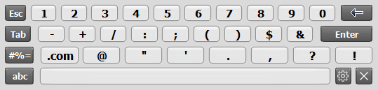 Alpha-numeric Touch Screen Keyboard