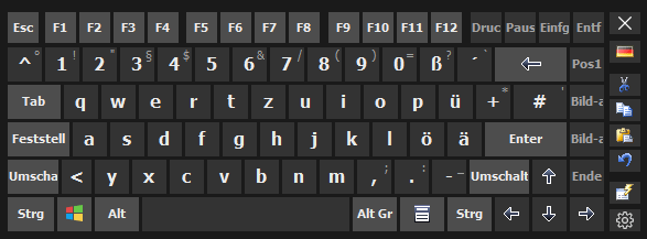 Hot Virtual Keyboard German
